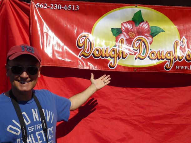 My Do Do waiting for his Dough Dough's (malasadas)