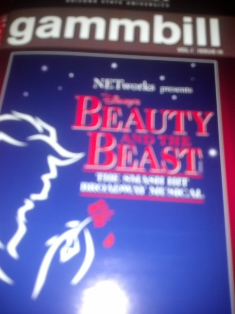 "Friday night we took in the Broadway traveling production of ""Beauty & Beast"" which was fantastic..."